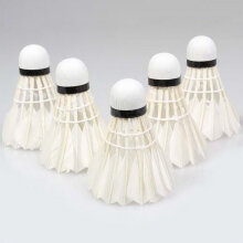 [COZIME] 5Pcs Game Sport Training White Duck Feather Shuttlecocks Birdies Badminton Ball White