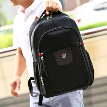 Wei's select fashion men's wear-resistant waterproof computer backpack hot tide computer backpack B-ZWX053 black