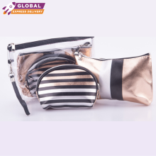 SOUGOOD - 3in1 Set Pouch Striped Cosmetic Pouch