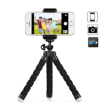 ivolks Mini Flexible Sponge Octopus Tripod For iPhone Xiaomi Huawei Smartphone Tripod for Gopro Camera Accessory With Phone Clip Warna acak - Hitam, merah, biru