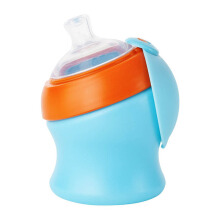BOON Swig Short Spout Top 7oz - Blue & Orange
