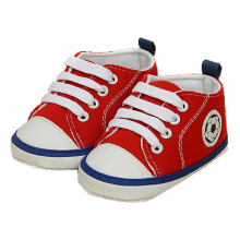Saneoo Soccer Prewalker Baby Shoes Red 6-12Bln