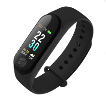 (English Version)M3 Plus Smart Bracelet Heart Rate Blood Pressure Multi-Sports Mode Color LCD Screen