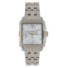 Expedition E 6618 BF BTCSL Ladies White Dial Dual Tone Stainless Steel Strap [EXF-6618-BFBTCSL]