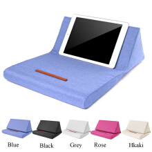 Colorful Foldable Tablet Pillow Holder Book Stand Foam Lap Rest Reading Cushion  Black Without Bag