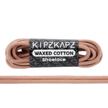 KIPZKAPZ WS26 Waxed Cotton Round Shoelace - Dusted Clay [3mm]