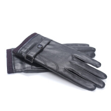 SiYing Fashion Leather Gloves Thicken Touch Screen Men's Driving Gloves