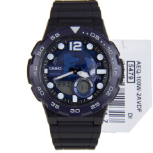 Casio Pria AEQ-100W-2AVDF D42H315HTBR Digital Black Blue