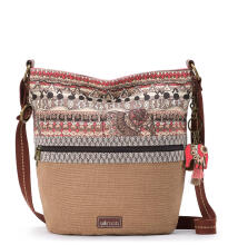 Sakroots Soft Bucket Sling Bag Sand One World
