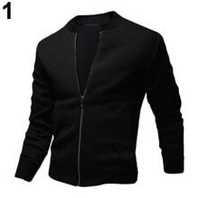 Farfi Men's Autumn Casual Jacket Long Sleeve Zipper Pockets Sport Outwear Coat