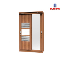 Olympic Viano Wardrobe Lemari Pintu Sliding / LSD0110383 Brown