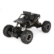 COZIME 1/16 2.4G Alloy Body Shell Crawler 4WD Double Motors RC Off-road Buggy Car RTR Black