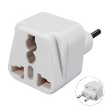 Blitzwolf 250V UK USA Germany to 2 Pins European EU Travel Adapter Plug Outlet Converter   -  -