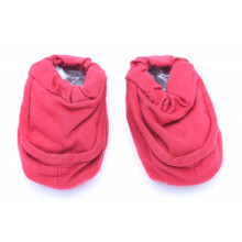 Cribcot Booties Plain - Red  0-3M