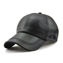 Anamode Fashion Leather Cap Fall Winter Hat Casual Snapback Baseball Cap Hat -