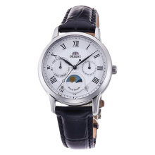 Orient Classic Sun & Moon RA-KA0005A Men White Dial BrownLeather Strap [RA-KA0005A]