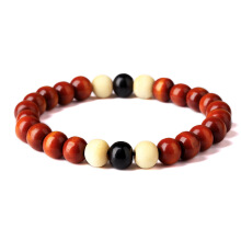 Jantens Natural Wooden Beaded Root Chakra Jewery & Hip Hop Bead Bracelet brown Brown