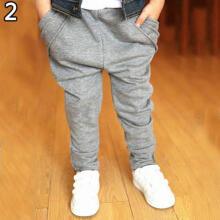 Farfi Kids Boys Fashion Casual Hip Hop Pockets Harem Baggy Pants Slacks Trousers