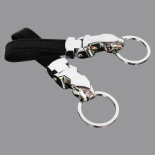 Farfi Genuine Leather Leopard Head Pocket Keychain Key Ring Chain Hanging Ornament as the pictures