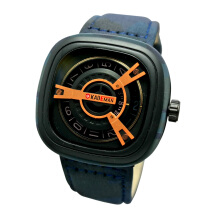 Kademan Army D47H141K365BBRA Analog Jam Tangan Pria Leather Strap - Biru  Army Blue Army 637a06aed9