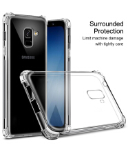 Keymao Samsung Galaxy A6+ Case Reinforced Corners Crystal Transparent TPU Ultra Slim Protective Cover Transparent