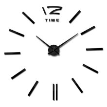 JDWonderfulHouse JDwonderfulhouse Modern DIY Wall Clock Large Frameless 3D Wall Clock Mirror Stickers Silent Home Living Room Office D