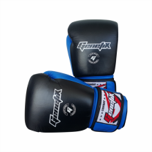 GENETIX Boxing Gloves COMBAT Leather GBG4L BlueBlack