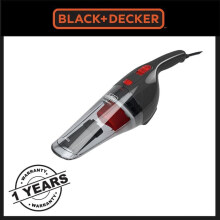 Black and Decker NV1200AV Vacuum Cleaner Mobil 12 V NV1200AV - Black Black Frame with red