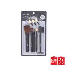 Miniso Official Luxury Makeup Brush 5-Piece Set (Includes Spare Eyeshadow Tip)