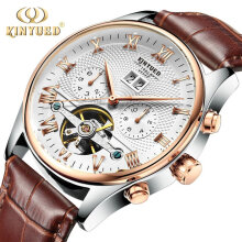 COZIME Waterproof Men Business Watch Tourbillon-hollow Automatic Mechanical White