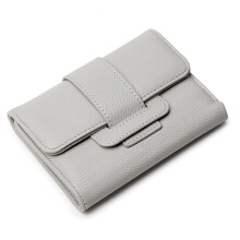 Keness 1621 Tri-fold short wallet small fresh student belt purse multifunctional buckle wallet