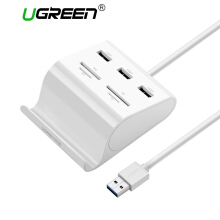 UGREEN All in 1 USB 3.0 HUB with 4 Ports Card Reader Support SD TF MS M2 Card White 50CM