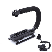 Camera Stabilizer Grip Video Handle C Shape for DSLR GoPro Xiaomi Yi Black