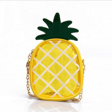 [LESHP]Portable Transparent Pineapple Small Croos Body Mini Bag Single Shoulder Yellow