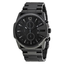 Diesel DZ4180 DieselMaster Chief Black dial Stainless Steel Watch [DZ4180]