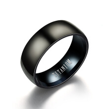 Jantens Fashion Titanium Ring Men Matte Finished Classic Engagement Jewelry Rings Black