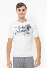 Johnwin - Slim Fit - Kaos Casual Active - Bird - Putih