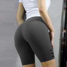 Women Basic Slip Bike Shorts Compression Workout Leggings Yoga Shorts Capris_XXXL