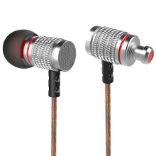 KZ EDR2 Mega Bass In-Ear HiFi Earphones with Microphone Support Handsfree Calls 3.5mm Gold Plated Jack 1.2m Length CordSilver