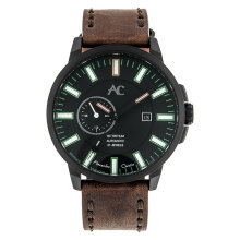 Alexandre Christie AC 9202 NM ALIPBAGN Night Vision Automatic Black Dial Brown Leather Strap [ACF-9202-NMALIPBAGN]