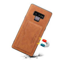 MOONMINI for Samsung Galaxy Note 9 PU Leather Mobile Phone Case Flip Stand Cover with Card Holder Cover