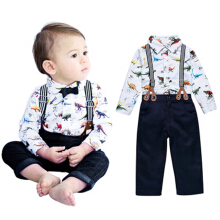 Children's gentleman braces, cartoon animal print children's suit