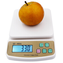 Jantens 10Kg X 1g Digital Postal fruit Kitchen Diet counting Weighing balance electronic scales White 10kg-1g