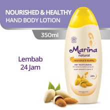 MARINA Hand & Body Lotion Natural Nourished & Healthy 350 ml