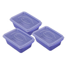 VICTORYHOME Food Box 500ml set of 3 - Violet Blue