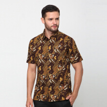 A&D Mens Batik Short Sleeve Ms 1119 - Brown