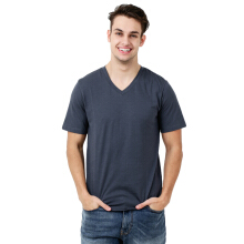 FACTORY OUTLET UG1802-0011 Mens T-Shirt V Neck Short Sleeve - Grey