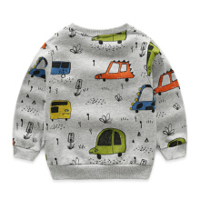 Children's cartoon sweater boys cotton pullover coat baby crewneck car base shirt