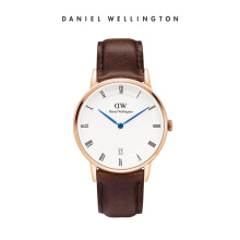 Daniel Wellington Dapper Leather Watch Bristol Eggshell White 34mm