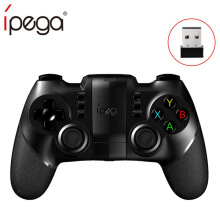 iPega PG-9076 Bluetooth Gamepad 2.4G Wireless Receiver for PlayStation3 Controller with Holder for Android Windows Consoles Black